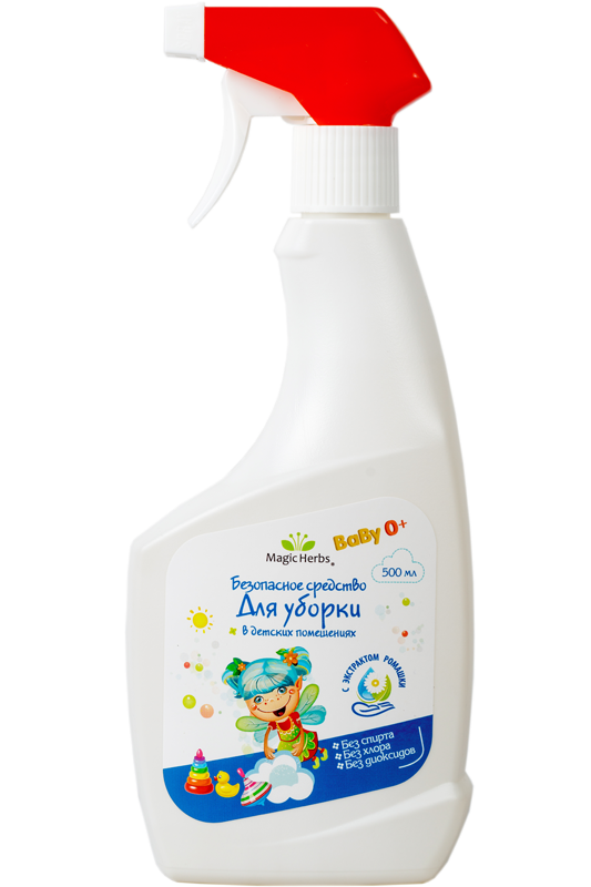 Безопасное средство для уборки в детских помещения с экстрактом ромашки серии «MAGIC HERBS»
